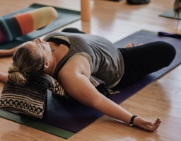 A liquid state of being!  Sunday evening restorative yoga – 15 July 7-9pm. The Treatment Room, Newport